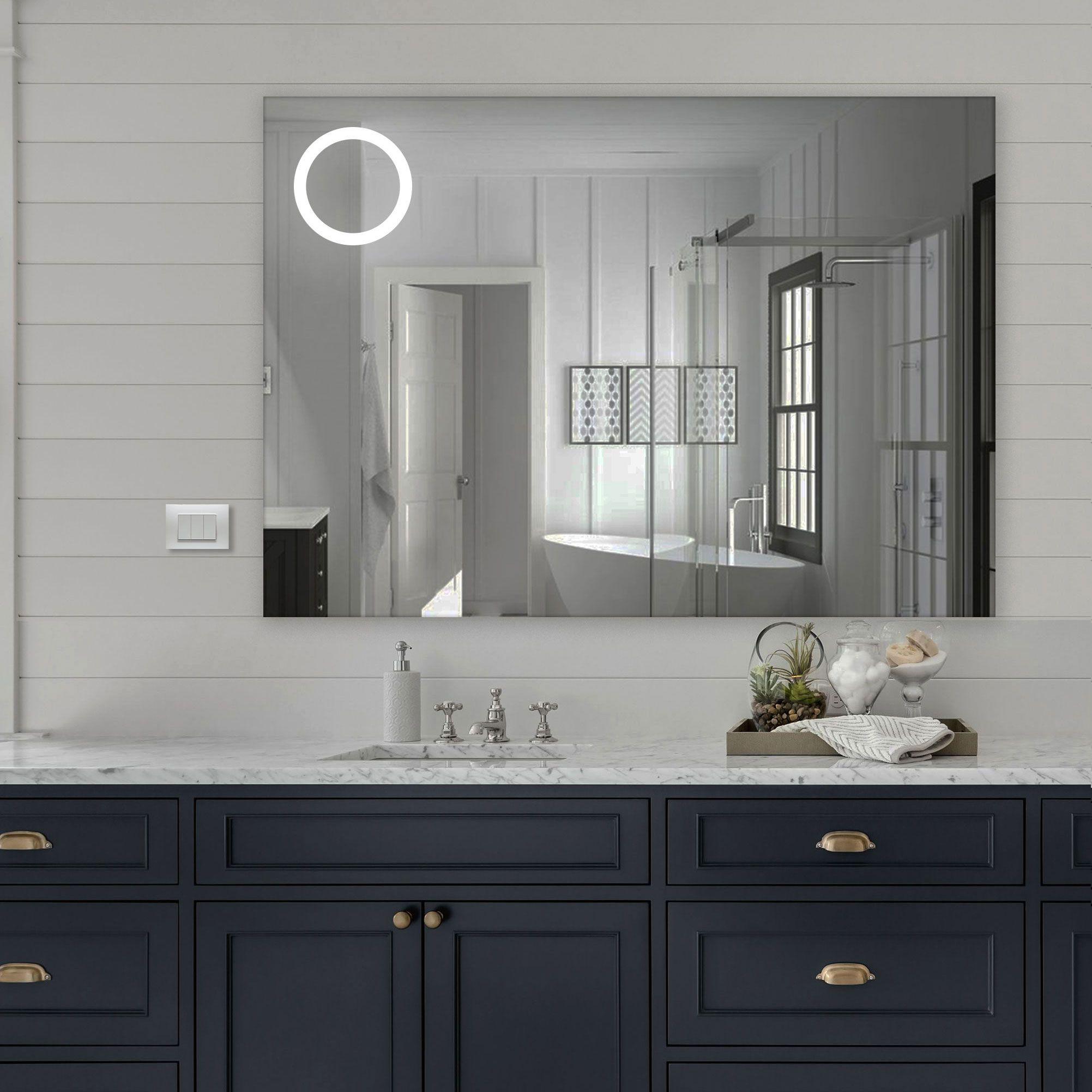 Specchio Atene Cerchio Led Frontale Specchi Arredamento Bagno