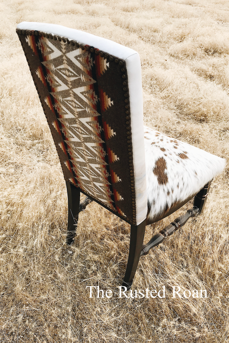 Pendleton Chair, Cowhide Chair, Upholstered Chair