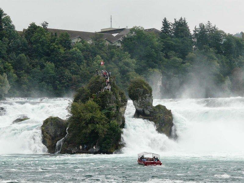 World's Beautiful Landscapes.: The Rhine Falls, Switzerland | The largest plain w...