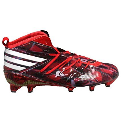adidas Men's Freak X Kevlar Mantra Football Cleats Power Red/White/Core  Black)