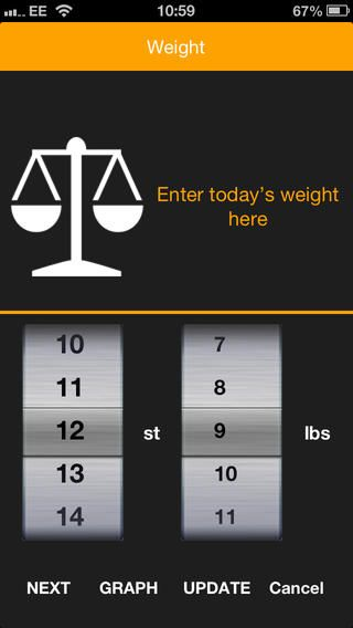 regularly enter your body measurements and track your progress over