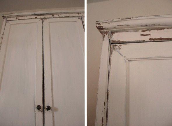 Mat riel 1 mettre une couche d appr t sur le meuble 2 pr parer la peinture la craie - Revamper armoire melamine ...