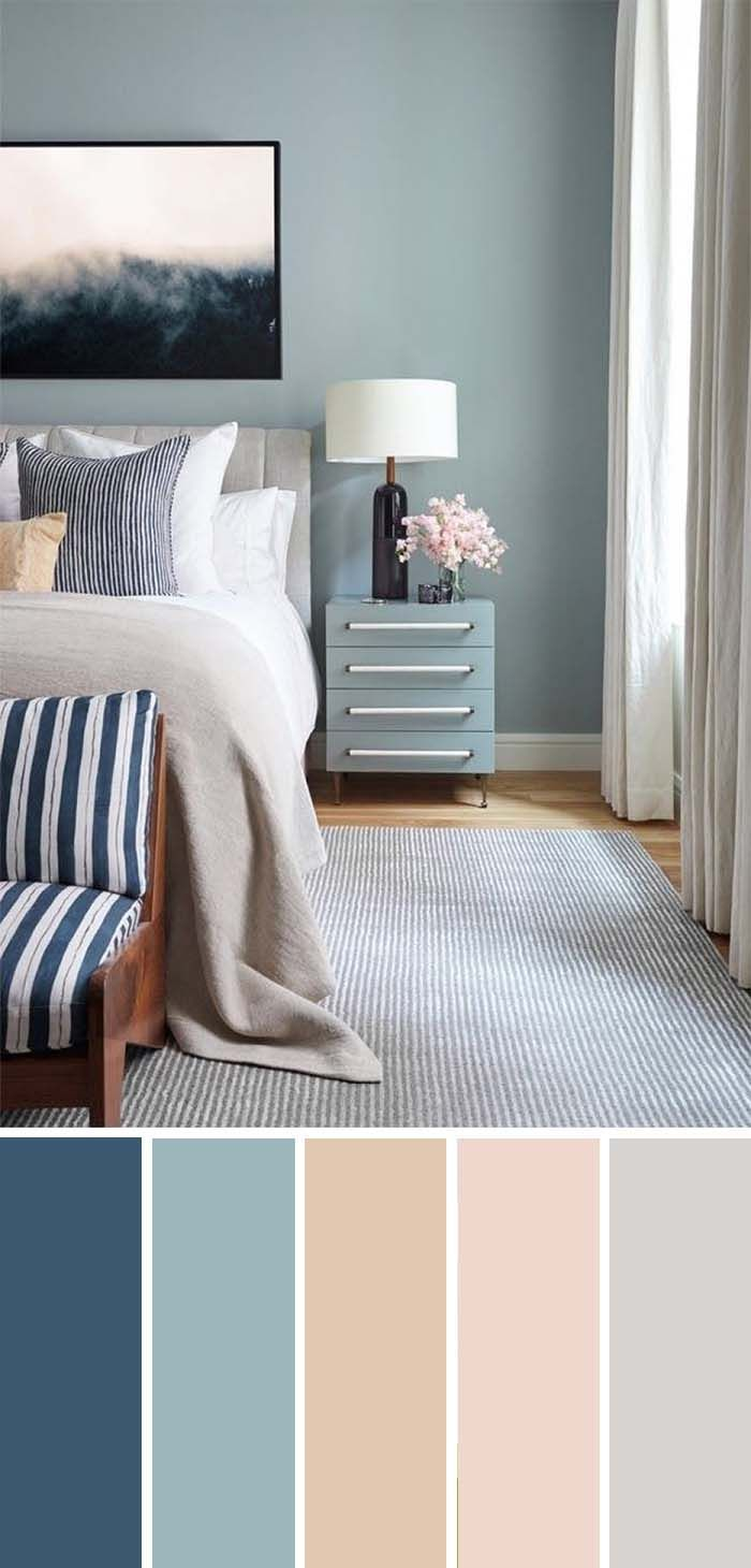 20 Beautiful Bedroom Color Schemes ( Color Chart Included #paintcolorschemes