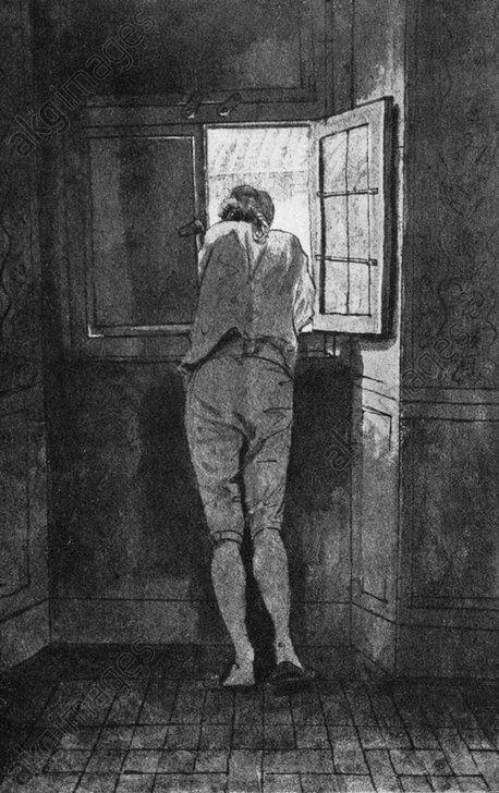 Goethe à la fenêtre de sa maison romaine sur le Corso (1787), Johann