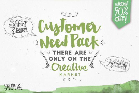 Download Customer Need Pack by Design Dukkan on @creativemarket ...