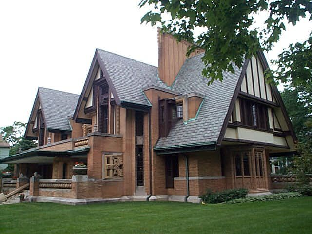 Nathan Grier Moore House 333 Forest Avenue, Oak Park, IL Built Designed By Frank  Lloyd Wright Architect