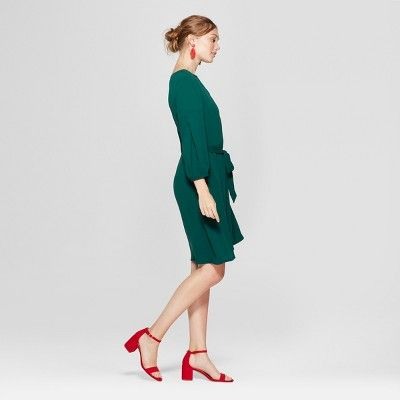 ed8b7c99a Women s Michaela Wide Width Mid Block Heel Pump Sandals - A New Day Red  5.5W