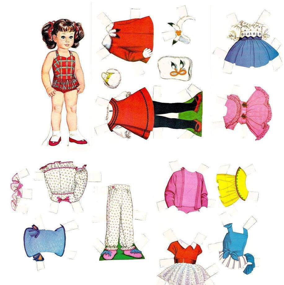 Chatty Cathy Paper Dolls