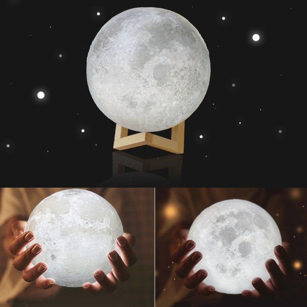 3d Led Moon Night Light With Base Moonlight Lamp Creative Indoor Table Desk Lamp Home Decor Christmas Gifts Night Light Bedroom Bookcase