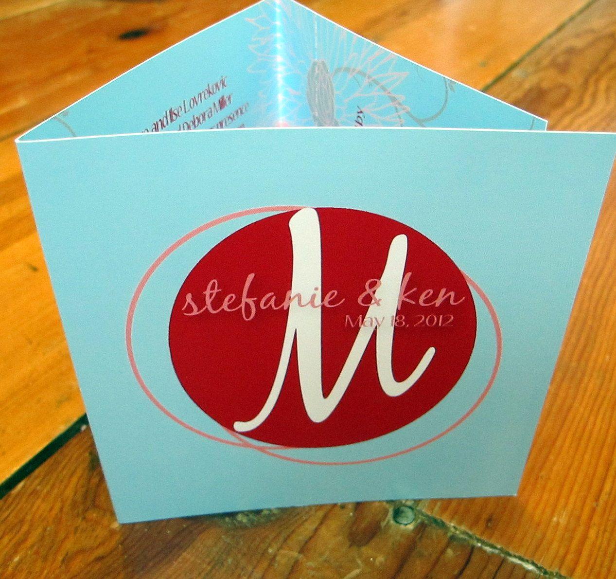 Modern Tri-Fold Wedding Invitations