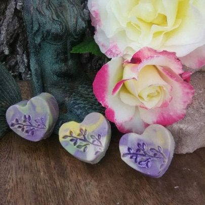 Mini Heart Lavender Goat Milk Travel Travelers Soaps~Pure Essential Oils Moisturizing Sensitive Dry Skin Face Body Goat Milk Soap Gifts #fallmilkbathbaby