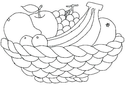 Fruit Coloring Pages For Preschoolers Coloring Fruit Coloring