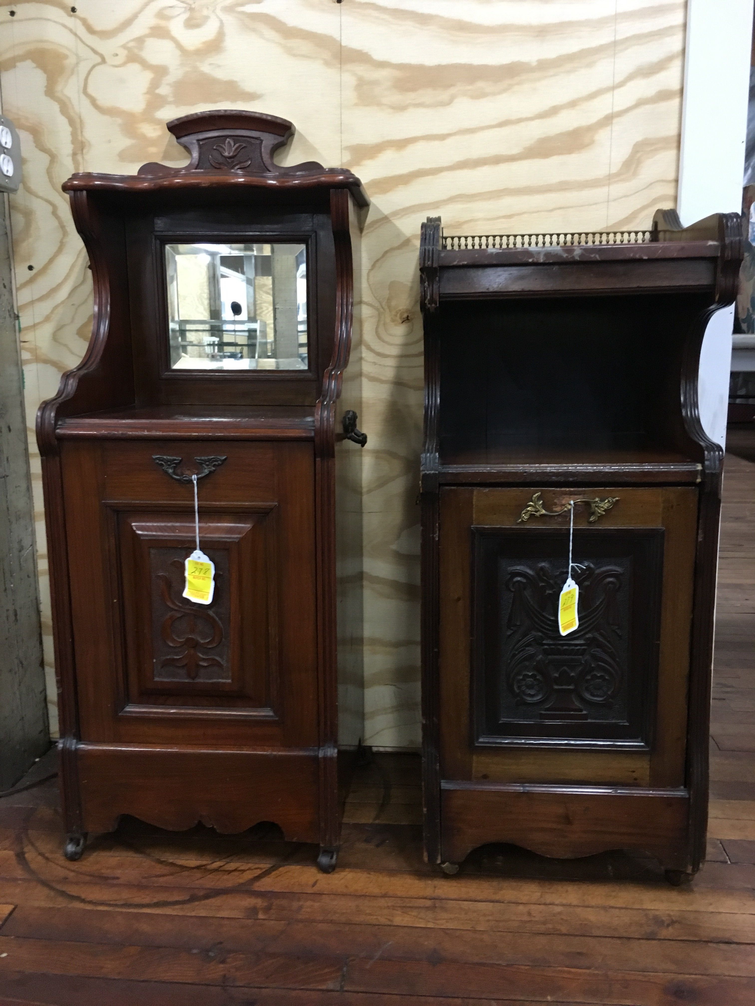 Secret Compartments Hidden In These Night Stands Made For A Warm Cozy Home  Back In The Come By Our Auction This Thursday To See More Antique Furniture!