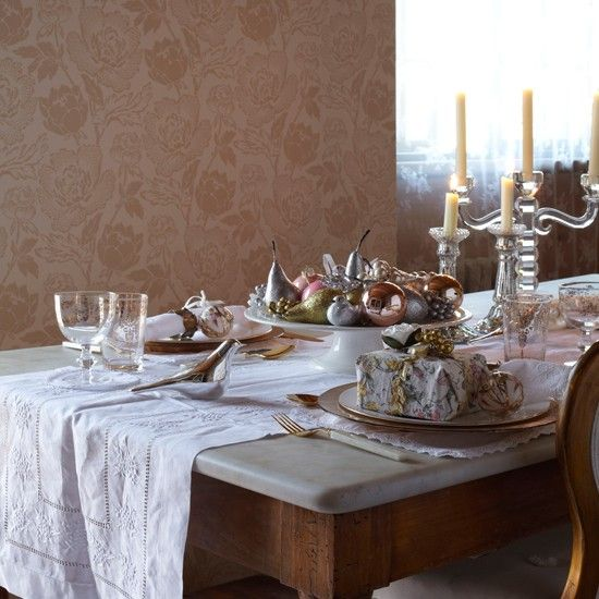 Enchanting table setting | Country-style Christmas table ideas | Christmas table settings | Country Homes u0026 Interiors : country style table settings - pezcame.com