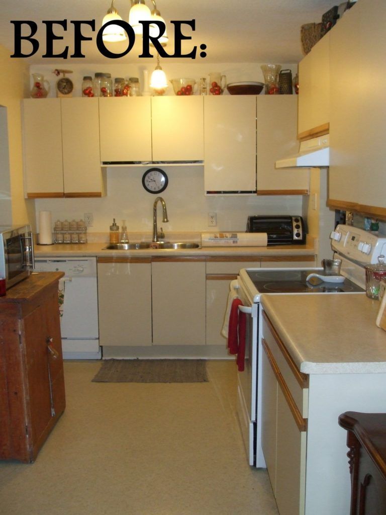 1980s White Melamine Kitchen Cabinets With The Oak Trim 1986