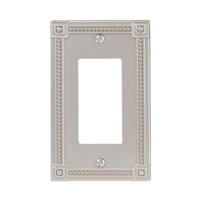 Amerelle Wall Plates Beauteous Traditional 1 Decora Wall Plate  Satin Nickel  Satin Traditional Inspiration Design