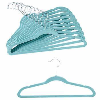 Baby Velvet 40 Pack Hangers In Blue Kids Hangers Velvet Hangers