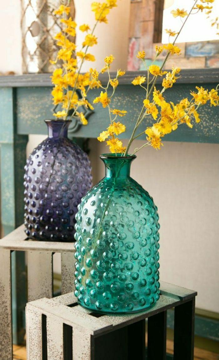 le grand vase en verre dans 46 belles photos wohnideen. Black Bedroom Furniture Sets. Home Design Ideas