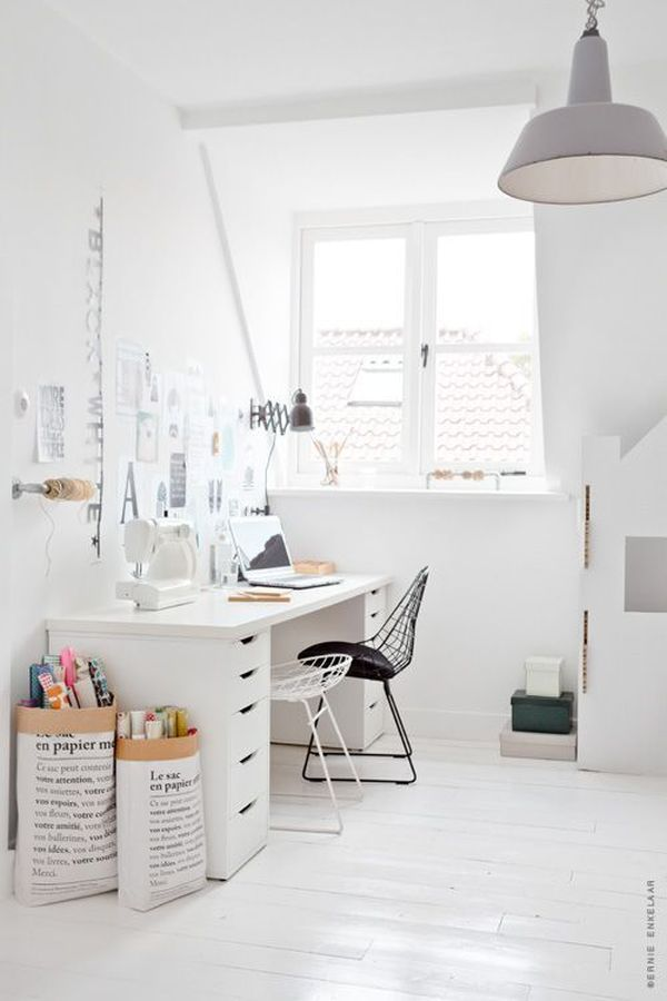 home office white. What Your Home Office Lighting Reveals About Style White N