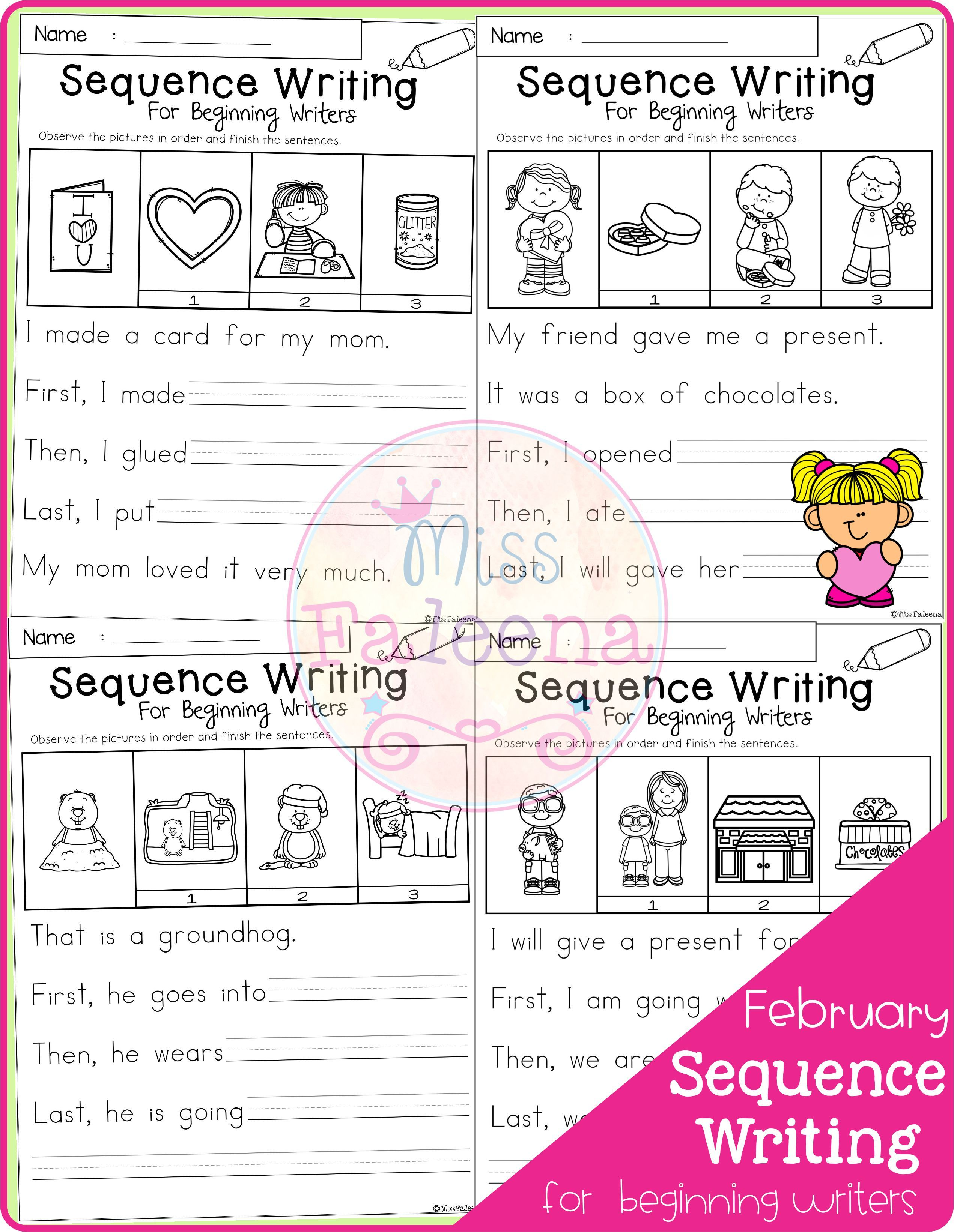 February Sequence Writing For Beginning Writers Di