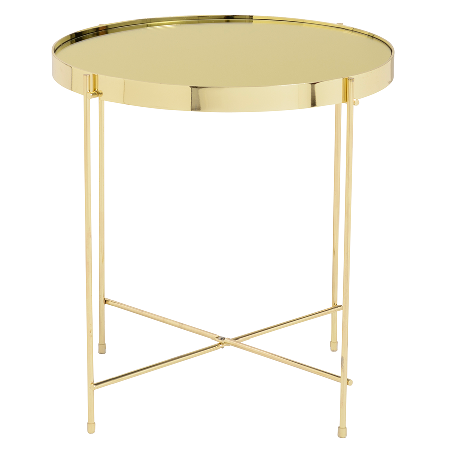 Trinity Side Table Gold Gold Side Table Gold Furniture Round