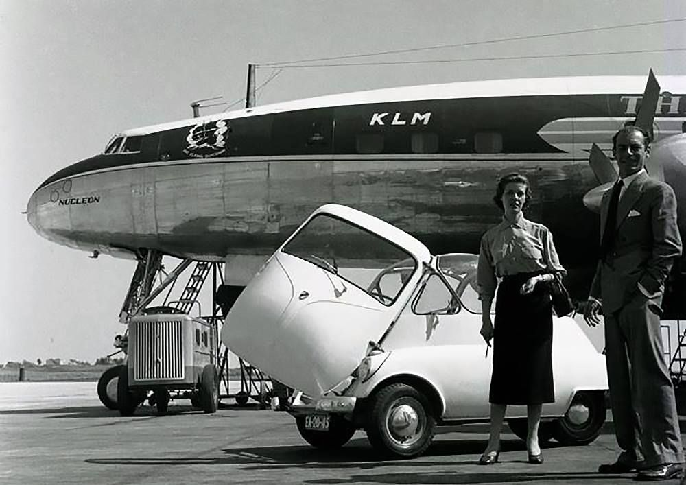 Lisbon 1954 with Connie Vintage aircraft, Klm royal