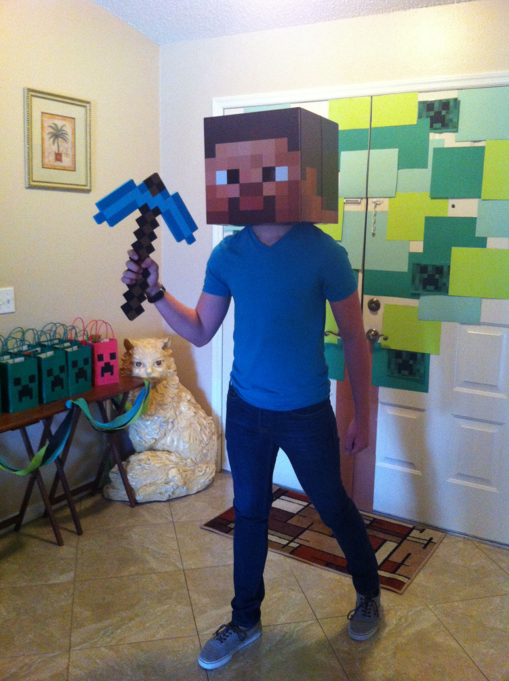 Minecraft Steve Greeted Each Of Our Guest When They Came To The