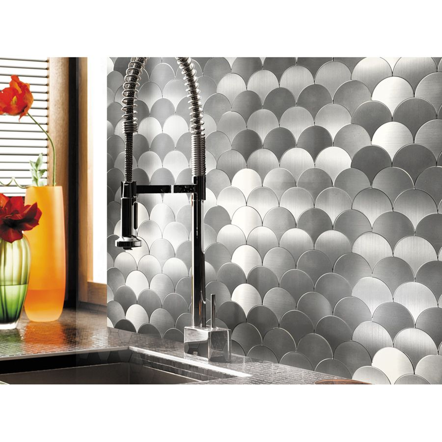 A16071 10 Sheets Peel And Stick Backsplashes Tiles Fan Shaped