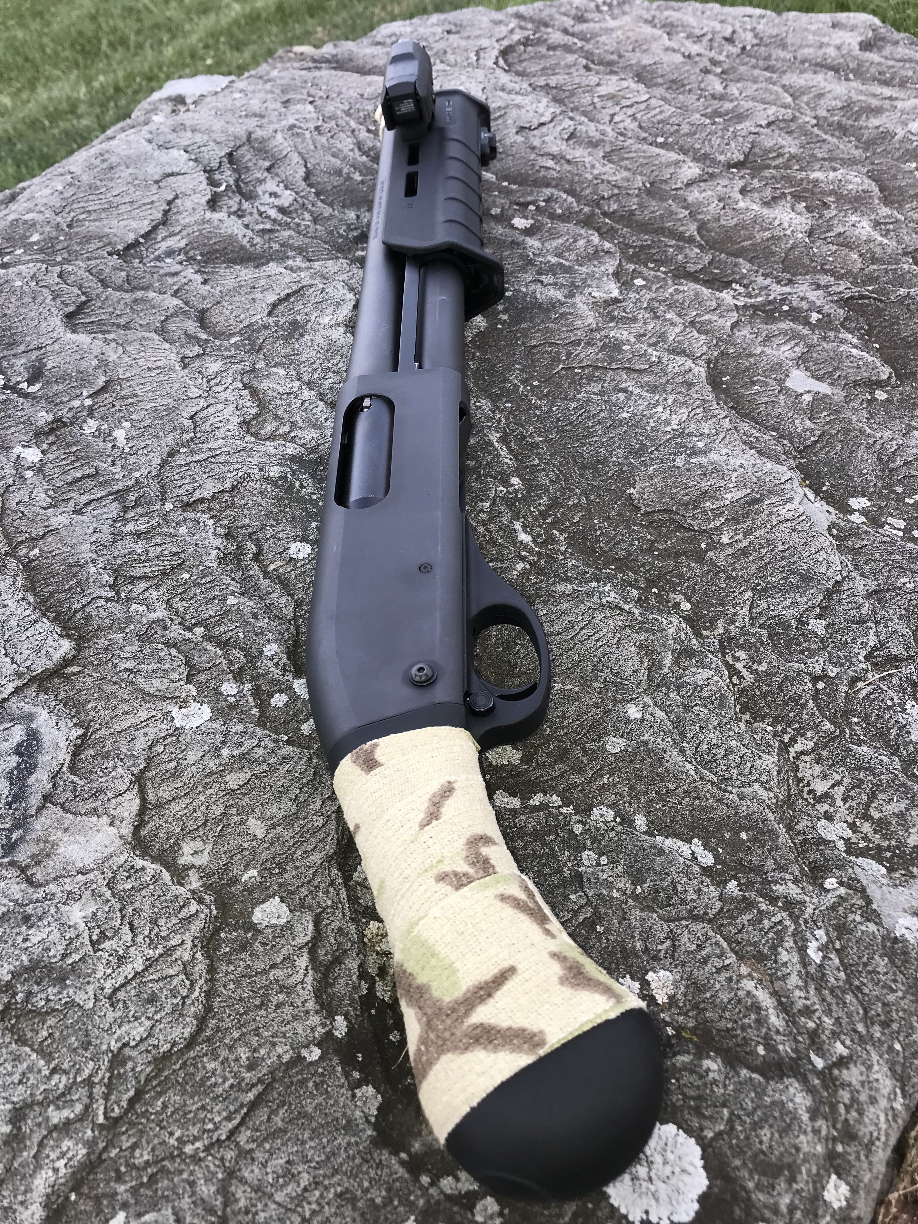 Remington tac 14 with camo wrap for better grip – Artofit