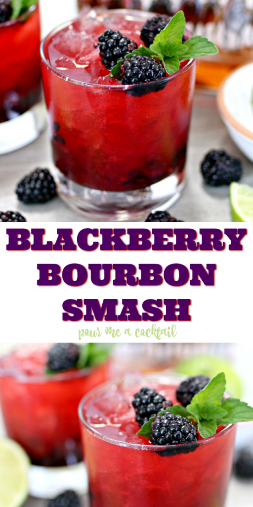 Photo of Blackberry Bourbon Smash Cocktail Recipe