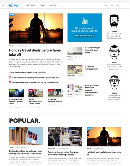 JA Magz - New Responsive Joomla template for News & Magazine More ...