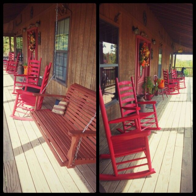 Love my country from porch!  Red spray paint (walmart) and spray stain (ace hardware) sure goes a long way .