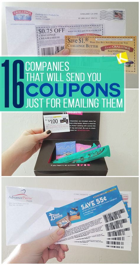 16 Companies That Will Send You Free High-Value Coupons #couponing