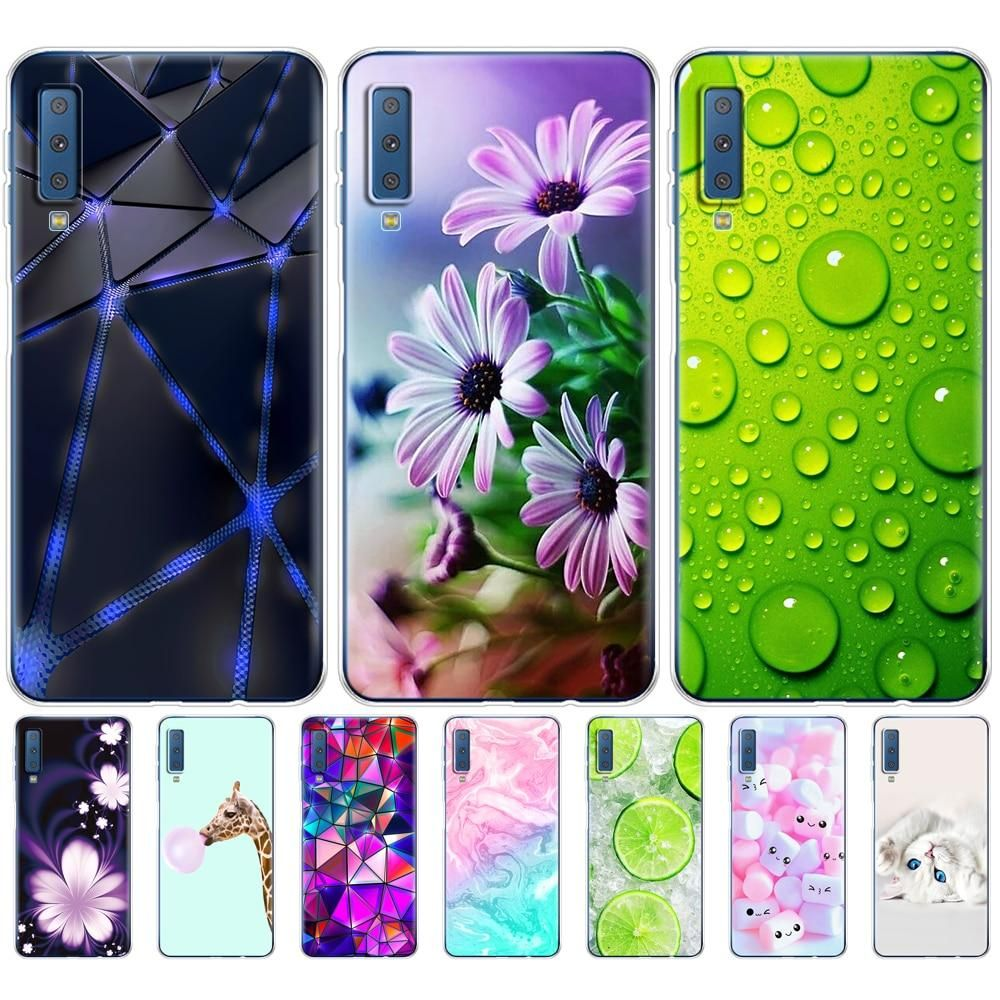 Samsung Galaxy A7 2018 Mobile Phone Case Silicone Color Printing Back Cover Samsung A7 2018 A750 A750f 6 0 Inches In 2021 Phone Cases Silicone Phone Case Phone