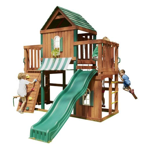 Beautiful Swing Sets : Winchester Wood Complete Swing Set by Swing-n-Slid...