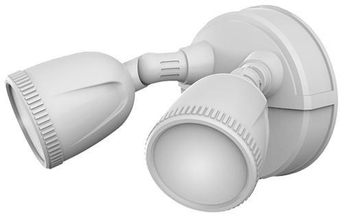 Patriot Lighting Illuminator White Dual Head Led Outdoor Security