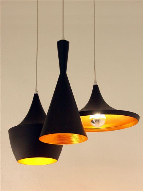 Set de tres l mparas de aluminio r plica de las l mparas for Replicas de lamparas