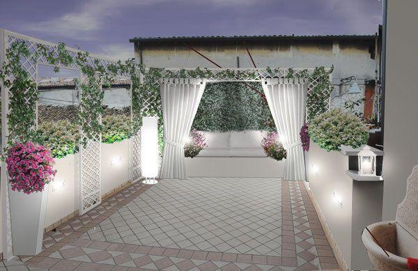 Il progetto del terrazzo alcuni terrazzi realizzati