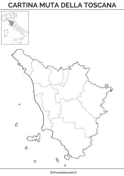 Cartina Fiumi Toscana.Cartina Muta Fisica E Politica Della Toscana Da Stampare L Insegnamento Della Geografia Attivita Geografia Scienza Per Bambini