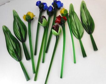 Glass Flower On Etsy A Global Handmade And Vintage Marketplace Glass Flowers Art Glass Flowers Flowers