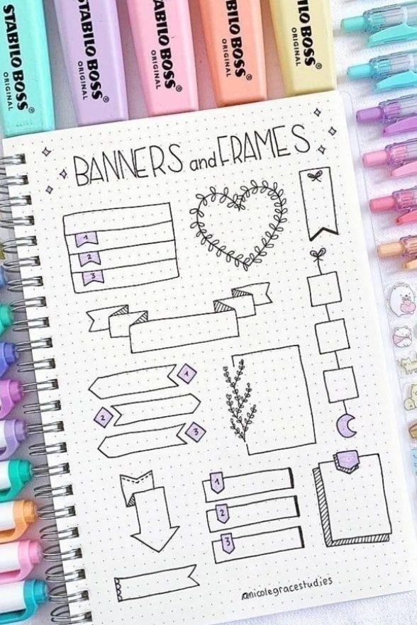 15+ Best Bullet Journal Banner Ideas For 2021 - Crazy Laura