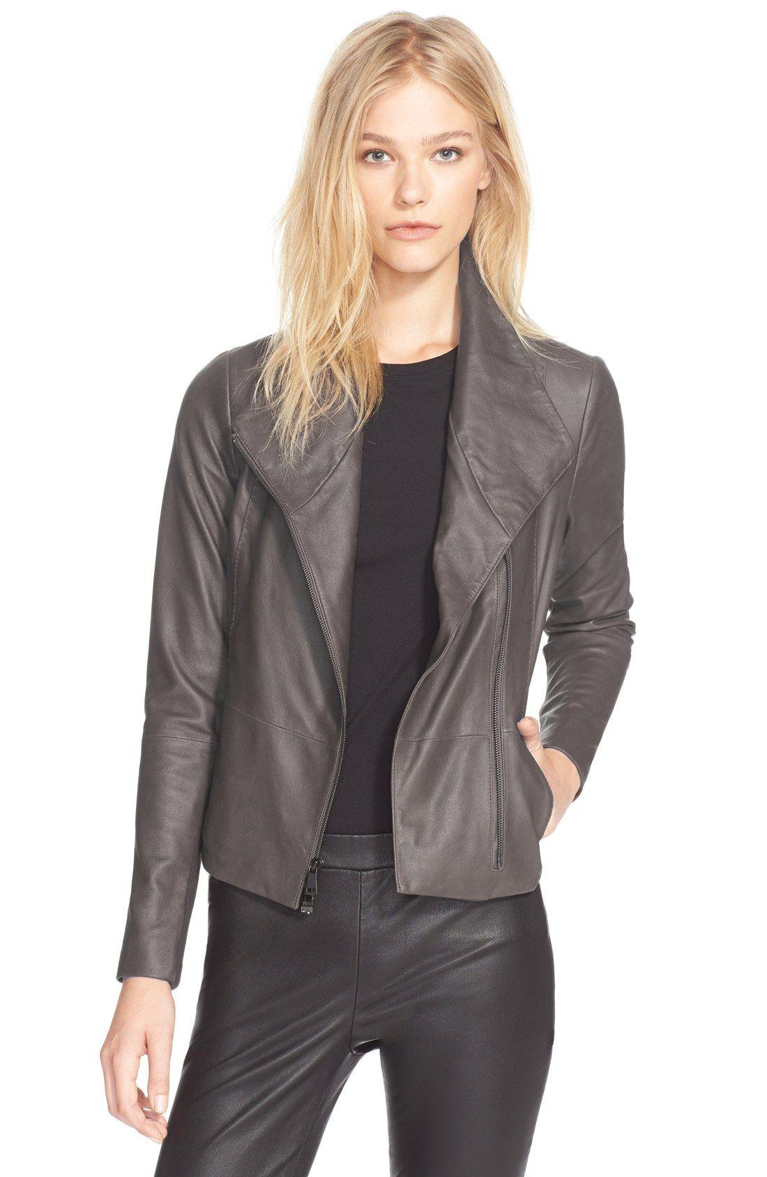 Vince Leather Scuba Jacket (Nordstrom Exclusive) Scuba