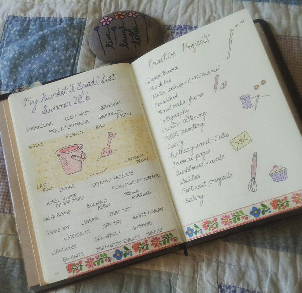 My Summer Bucket Spade List Ready For The Holidays Bulletjournal