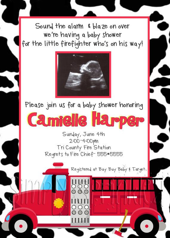 Firefighter Baby Shower Invitation Diy By Simplysprinkled On Etsy