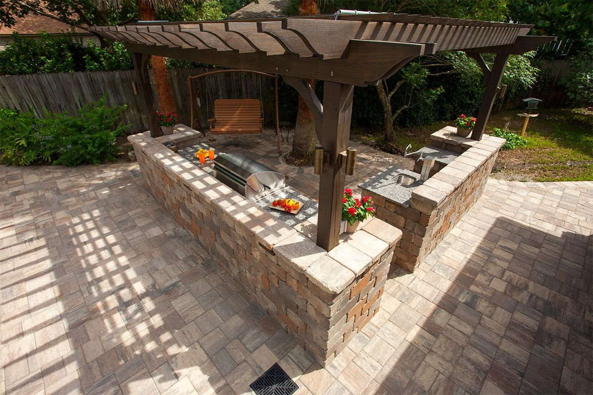 an outdoor kitchen is the perfect space for entertaining friends and family backyard design on outdoor kitchen and living space id=76913