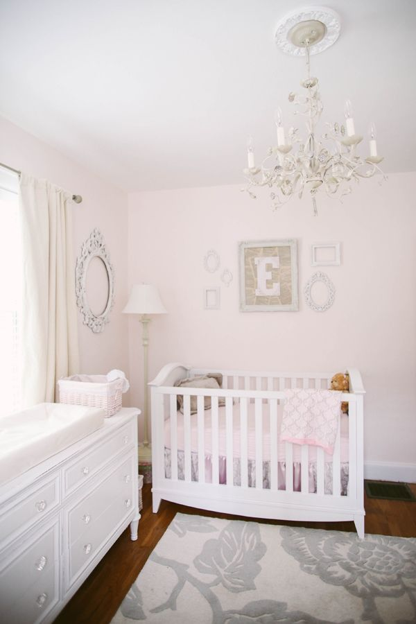 Soft And Sweet Pink Nursery With Shades Of Taupe Gray And Ivory