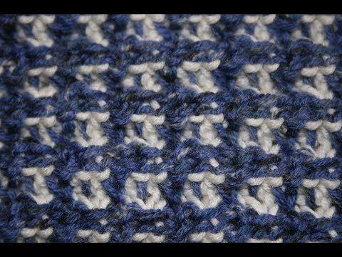 Punto Bicolore Uncinetto Tunisino Doppia Punta Tunician Crochet