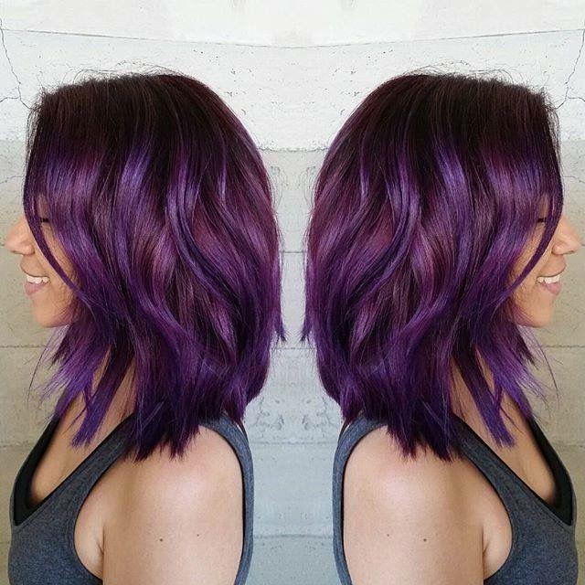 Purple Magenta Color Melt Hair Styles Plum Hair Hair Color Purple