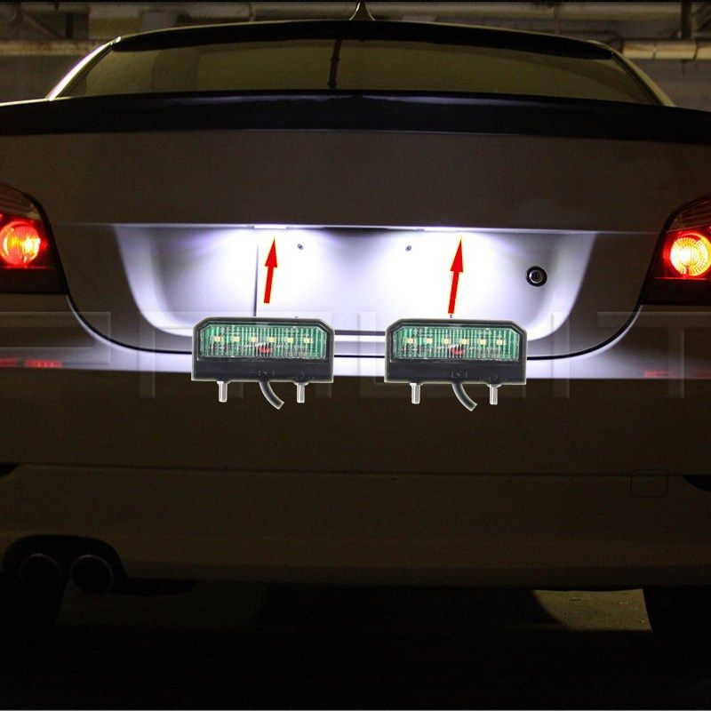 1 piece LED Waterproof License Plate Light 12-24V Shock Resistant Number Plate Lamp for Truck Trailer Motorcycle LED Lights.