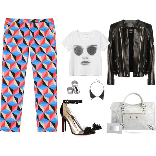 graphic print pants (2012 fall trend), created by maryam-essa-al-nassr on Polyvore